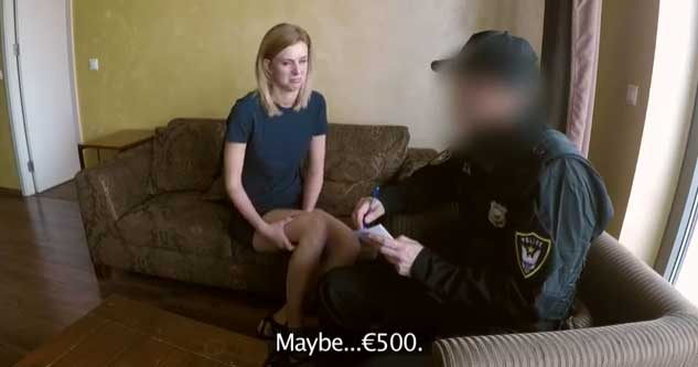 Steffany - Robbery Leads to Hotel Sex for Cop