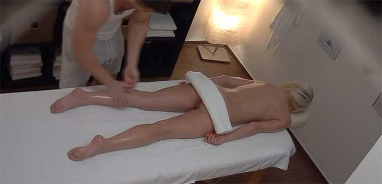 Czech Massage 393 - Husband Cheats with Masseuse with Wife in Room!