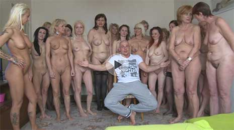 This video is the sickest one you've ever seen! Czech Harem 50+!!! A dream came true yet for another guy. Petr is the new Czech sultan who got enthroned. His dream was to have a personal harem of mature and seasoned ladies and grannies.