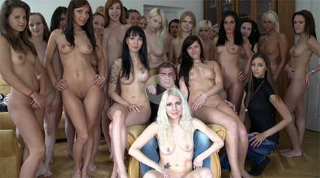 This episode will make every video you have ever seen slip to oblivion! 40 chicks and one dude! The double Czech Harem is here! The most massive reverse gangbang in the world.